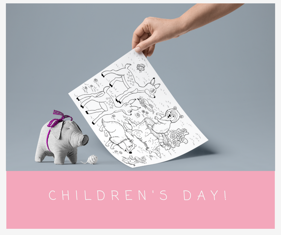 Childrens Day Colouring Pages
